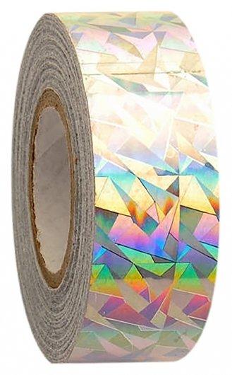 Обмотка для гимнастических булав и обручей NEW Crackle металлик, цвет серебро  Pastorelli
