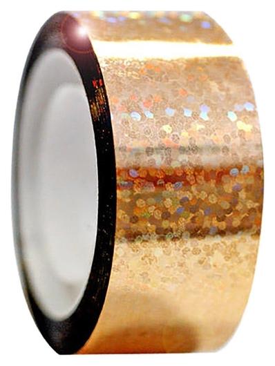 Обмотка для гимнастических булав и обручей Diamond клейкая, цвет золотой металлик  Pastorelli