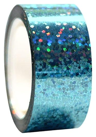 Обмотка для гимнастических булав и обручей Diamond клейкая, цвет голубой металлик  Pastorelli