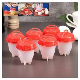 Набор контейнеров для варки яиц без скорлупы 6,5×9 см, 6 шт  NNB