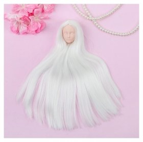 Голова для изготовления куклы, волосы светятся в темноте «Прямые» блондинка  NNB