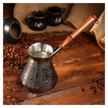 Турка для кофе медная «Ромашка», 0,6 л  NNB