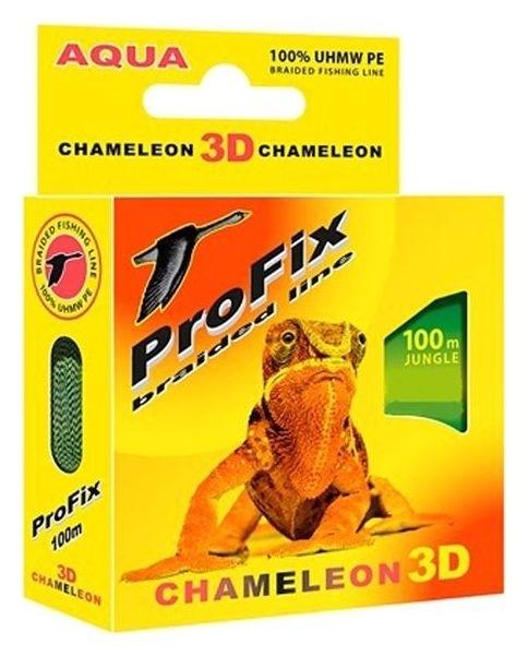 Леска плетёная Aqua Profix Chameleon 3D Jungle, D=0,16 мм, 100 м, нагрузка 10,4 кг  Aqua