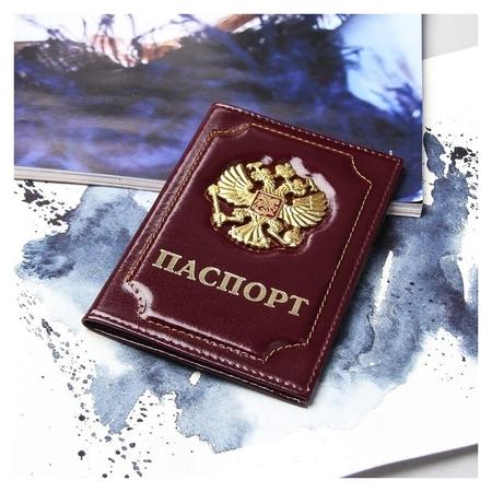 Обложка для паспорта, цвет бордовый  NNB