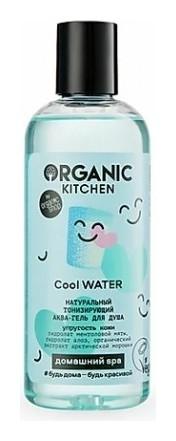 Аква-гель для душа Натуральный тонизирующий Cool Water  Organic Kitchen
