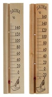 """Деревянный термометр для бани и сауны """"Sauna"""" в пакете  Первый термометровый завод"""