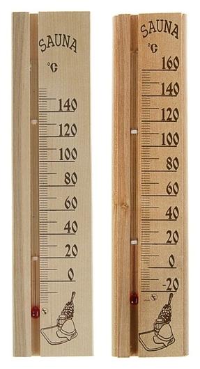 """Деревянный термометр для бани и сауны """"Sauna"""" в пакете  NNB"""
