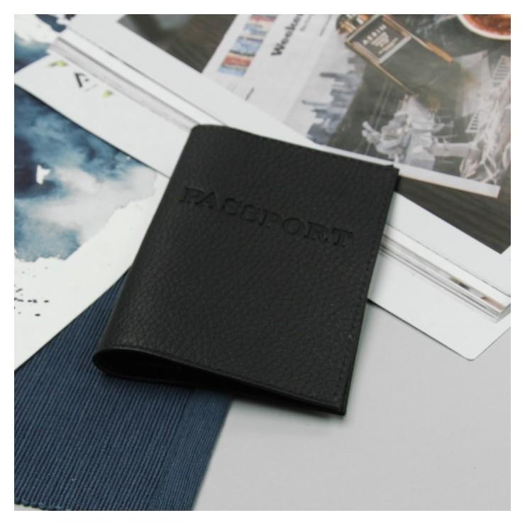 Обложка для паспорта, загран, флотер, цвет чёрный  NNB