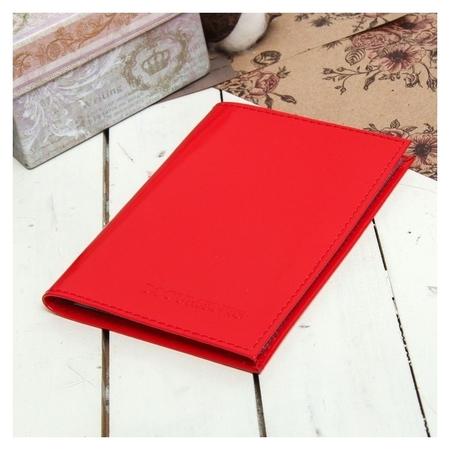 Обложка для автодокументов, цвет красный  NNB