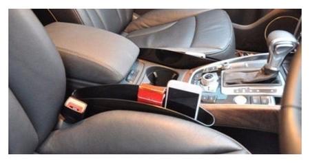 Органайзер для мелочей между сидений 35х11 см, чёрный, набор 2 шт  NNB