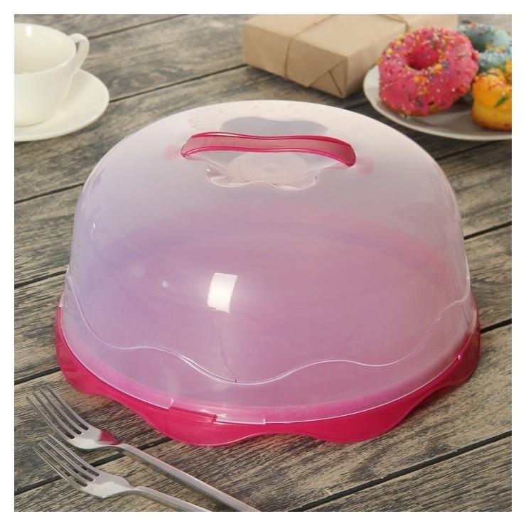 Блюдо для торта и пирожных D=28 см, с крышкой  NNB