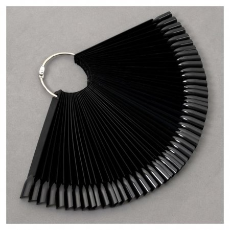 Палитра для лаков на кольце, 50 ногтей, цвет чёрный  NNB