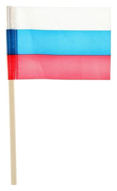 Флажок длина 25 см, 10 X 15 см, цвет триколор  NNB