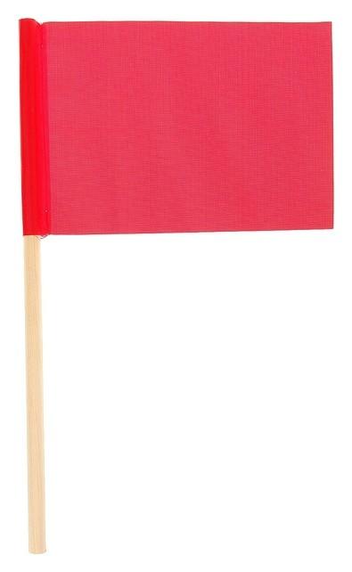 Флажок длина 25 см, 10x15, цвет красный  NNB