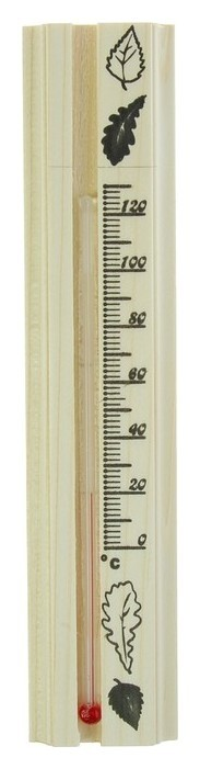 Термометр для бани, жидкостный, 200х42х18мм  NNB