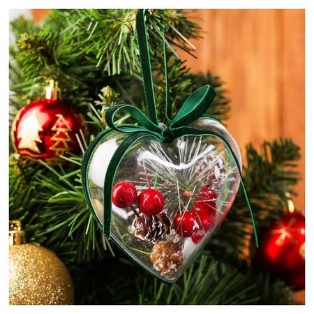 Новогодняя подвеска с природным декором «Зимнее сердце»  NNB
