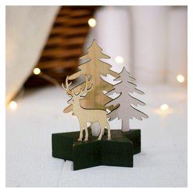 """Новогодний декор с подсветкой """"Лесной олень"""""""