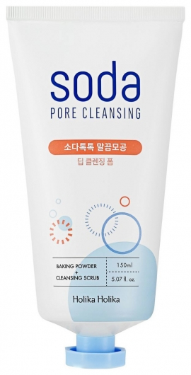 Глубоко очищающая пенка для лица Soda Tok Tok Clean Pore Deep Cleansing Foam  Holika Holika