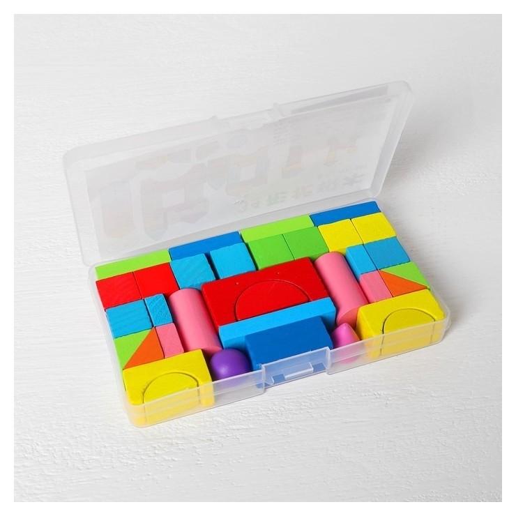 Конструктор «Городок», в пластиковом кейсе, кубик: 1.9 × 1.9 см  NNB