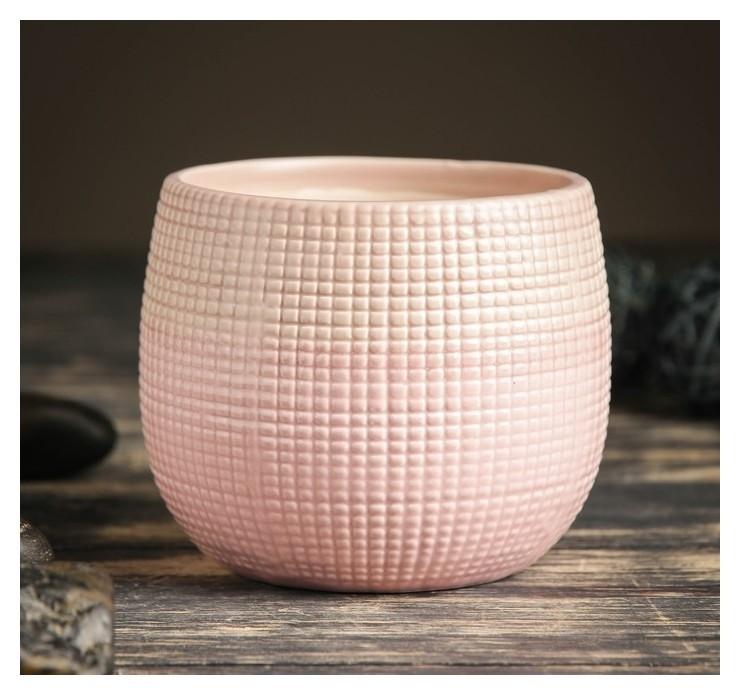 Кашпо керамическое розовое 10*10*10 см  NNB