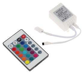 Контроллер Ecola LED Strip RGB IR Controller, 6А, 12в-72вт, 24в-144 Вт, для ленты, и/к пульт  Ecola