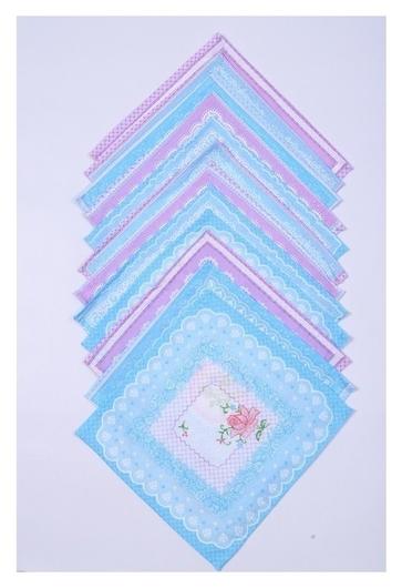 Платок носовой женский 28х28 см, 12шт, рис 5485-2 (Роз-гол) 100г/м хл100%  Атра