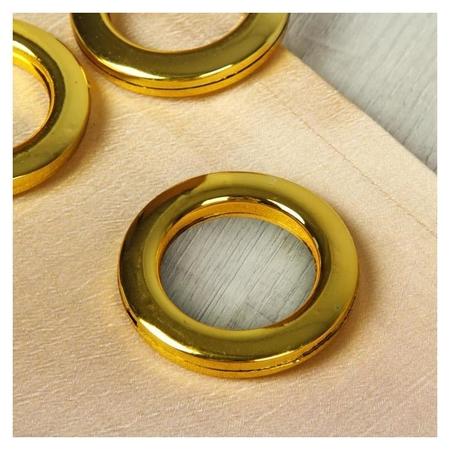 Люверсы для штор, D = 4,3/6,5 см, 10 шт, цвет золотой  Арт узор