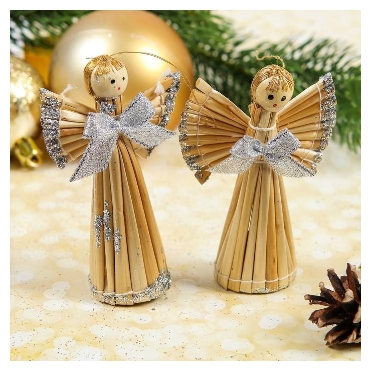 Эко-декор «Ангелочки», макси, серебро, 2 шт. в наборе