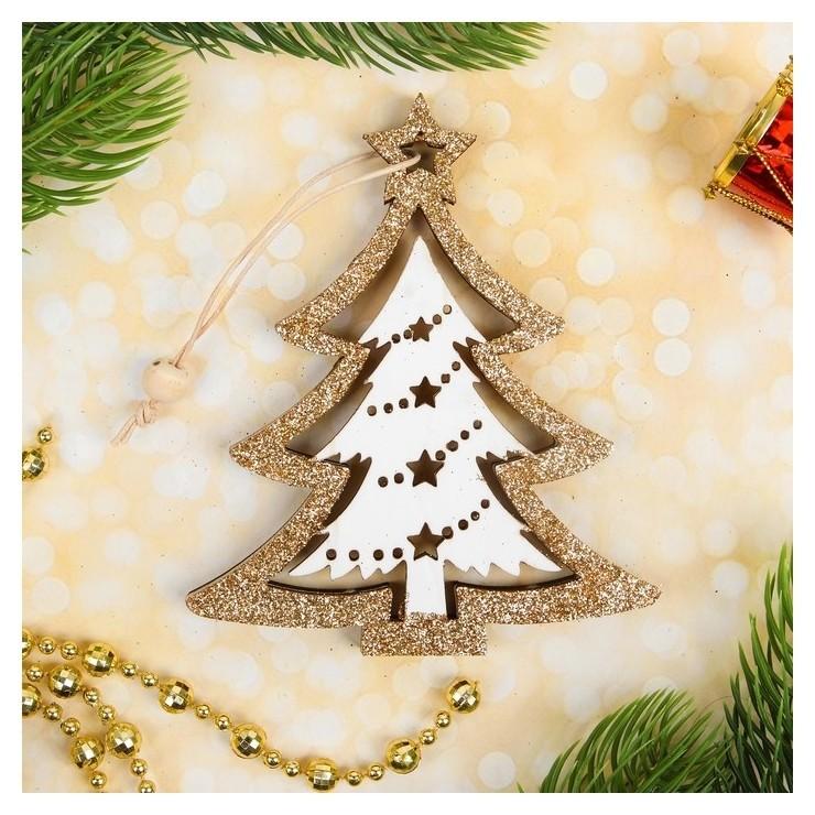 Подвеска новогодняя «Блеск», золото, односторонняя  NNB