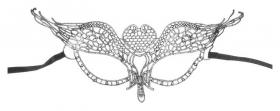 Карнавальная маска «Тайна», ажур  NNB