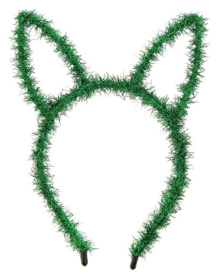 Карнавальный ободок «Зайка», цвет зелёный  NNB