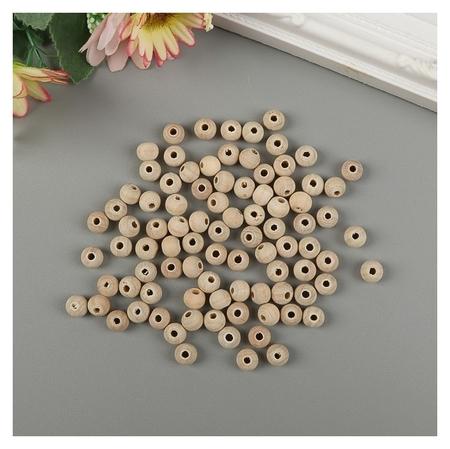 Бусины деревянные D=8 мм (Набор 15 гр) без покрытия  NNB
