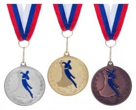 """Медаль тематическая 173 """"Танцы"""" золото"""