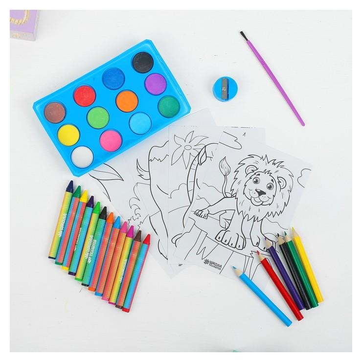 """Набор для рисования """"Веселые животные"""" в пакете  Школа талантов"""