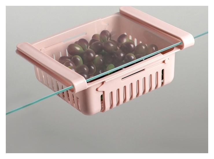 Полка подвесная в холодильник, раздвижная 23(28)×16,5×8 см