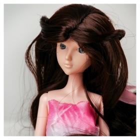 Волосы для кукол «Волнистые с хвостиком» размер маленький, цвет 4А