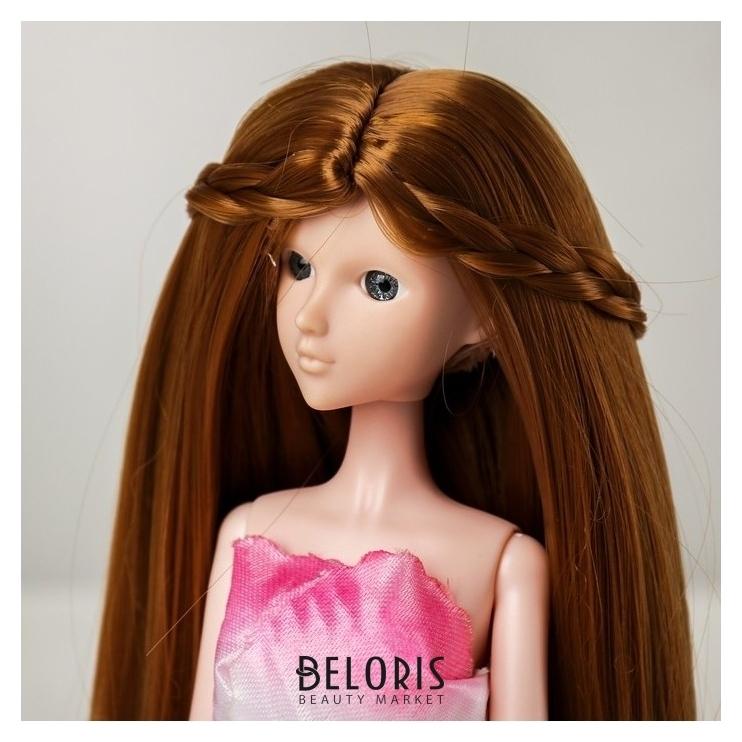 Волосы для кукол «Прямые с косичками» размер маленький, цвет 28 NNB
