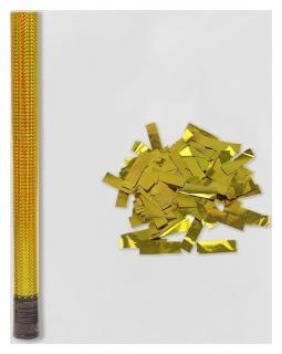 Пневмохлопушка «Голография», 60 см, золотое конфетти Пати Бум