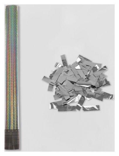 Пневмохлопушка «Голография», 60 см, серебряное конфетти  Пати Бум
