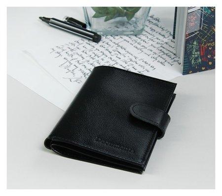 Обложка для автодокументов и паспорта, отдел для купюр, цвет чёрный матовый  Cayman