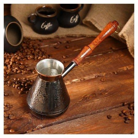 Турка для кофе медная «Виноград», 0,4 л  NNB