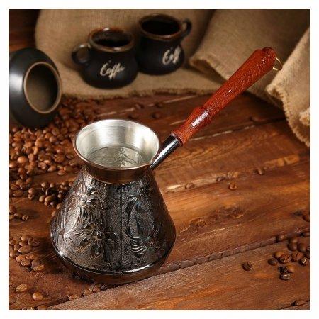Турка для кофе медная «Ромашка», 0,75 л  NNB