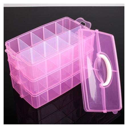 Бокс для хранения пластиковый, 3 яруса, 30 отделений