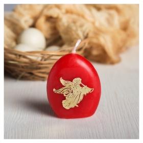 Пасхальная свеча-яйцо с наклейкой «Ангел»