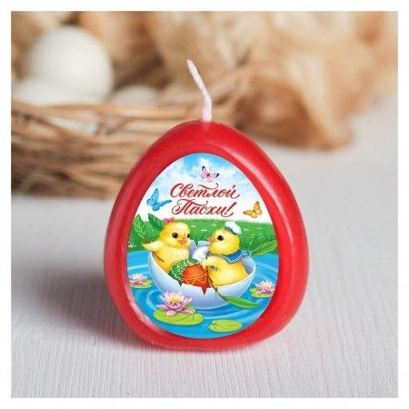 Пасхальная свеча-яйцо с картинкой «Светлой Пасхи!»  NNB