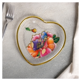 "Блюдо фигурное 16,5×16,5 см ""Сердце"", рисунок  NNB"