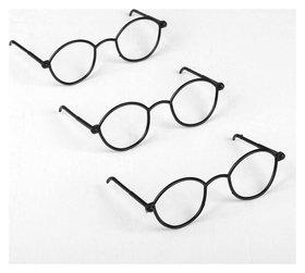 Очки для игрушек, набор 3 шт., цвет чёрный  NNB