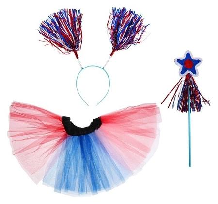 Карнавальный набор «Россия», 3 предмета: жезл, ободок, юбка, 3-5 лет  NNB