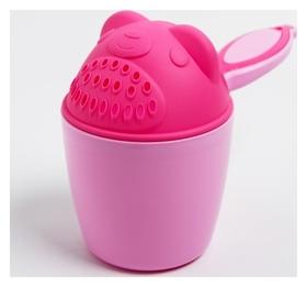"""Ковш для купания """"Мишка"""", цвет розовый"""