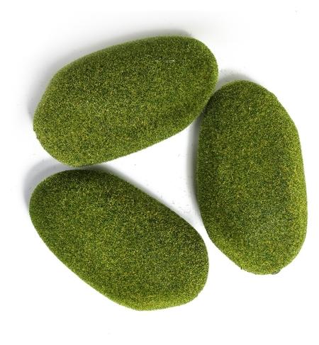 Мох искусственный «Камни», 15 × 9 × 5 см, набор 3 шт.  NNB